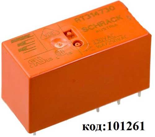 Реле-1C, ~220VAC, 16А  (RT314730)