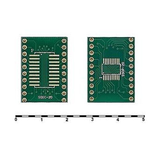 Печатная макетная плата Д/С для SOIC-20 и SSOP-20