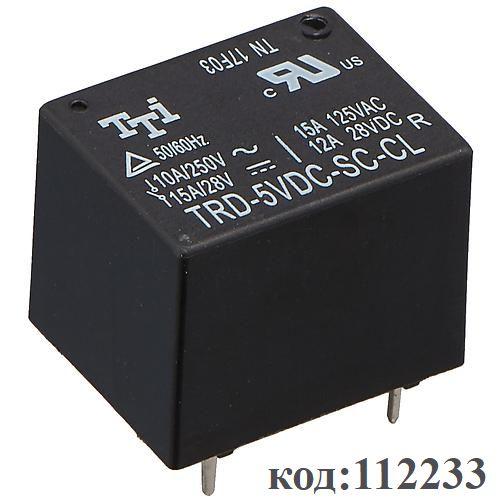 Реле-1C,   5VDC, 12A (TRD-5VDC-SC-CL)