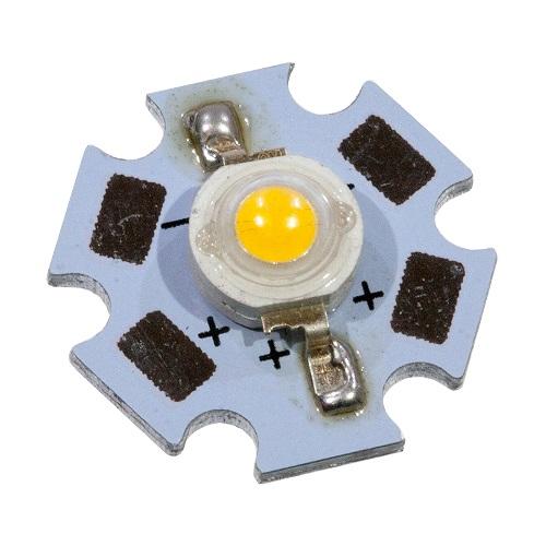 Светодиод-   3Вт, белый 3000К, 120 гр., 180 лм, звезда (ARPL-Star-3W Warm White 22W3)