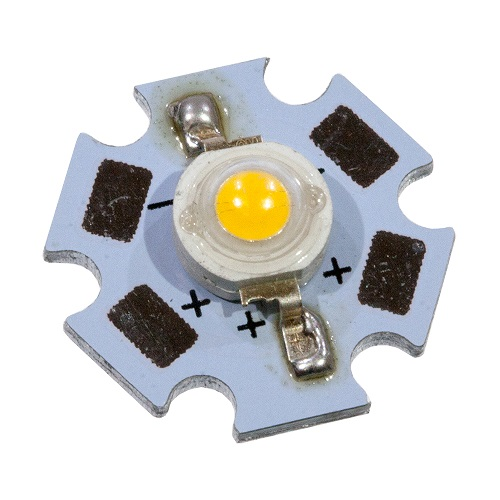 Светодиод-   3Вт, белый 6000К, 120 гр., 180 лм, звезда (ARPL-Star-3W White 22W3)