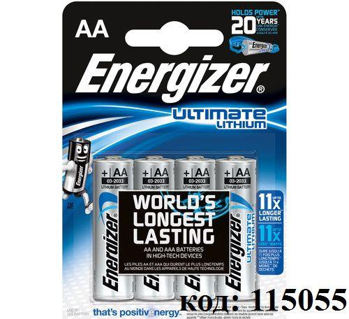 Литиевая батарея ENERGIZER 1,5V - AAA FR3 (L92) Lithium