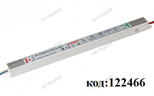 AC/DC ~220V->12V-  4,0A в корпусе IP-20 (ARV-HT12048-Slim)