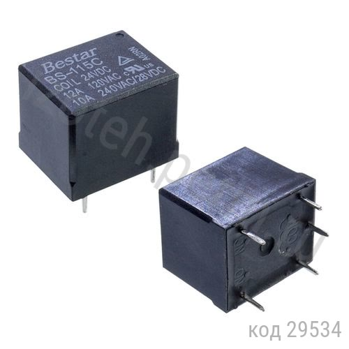 Реле-1C,  24VDC, 10А  (BS-115C-12A 24V)
