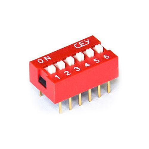 DIP свич  6 позиций (SWD1-6) (DS-06)