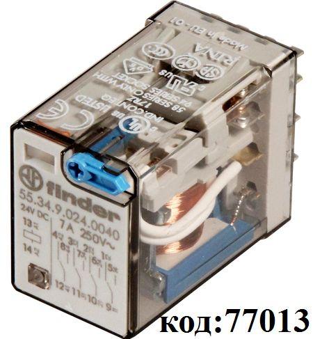 Реле Finder-4C,  24VDC,  7А  (55.34.9.024.0040)