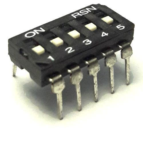 DIP свич  5 позиции (SNDIR-05) монтаж в панель DIP