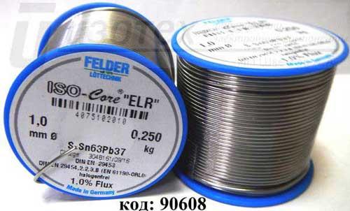 Припой Felder ELR (Sn63Pb37) 1 мм 250 г. (4075102010)