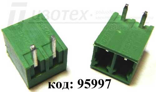 Клеммник  2 поз, шаг  3.50 мм, на плату, пр.угол (15EDGRC-3.5-02P-14-00A)